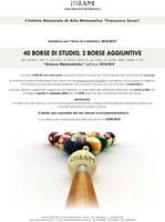 Bando Indam per borse di studio destinate a futuri iscritti ai corsi di Matematica
