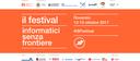 Festival Informatici Senza Frontiere - Rovereto 13-14-15 Ottobre